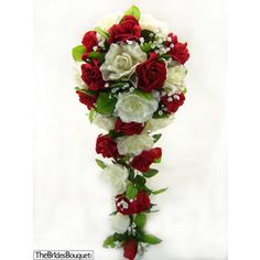 classic red rose cascade wedding bouquet - Google Search
