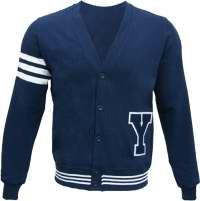 Barbarian Letterman Y Button-Up Official Rugby Cardigan