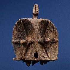 """Janiform Helmet Mask Bembe, D.R. Congo Wood, Eroded Provenance: Dr. Biemans, Belgium 15 3/4""""h (40cm) x 11 3/4""""w (30cm) x 12 3/4""""d (32.4cm)"""