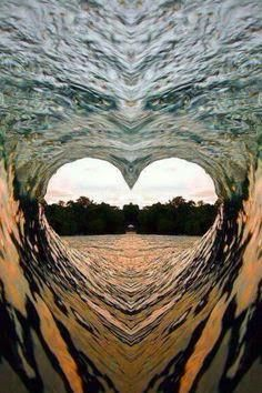 ❤️ HEARTS IN NATURE ❤️ ~ Heart Wave - - Beautiful - but I think this might have been photo shopped, only because I can see the face of an eagle just above the heart.beautiful heart nevertheless. Heart Wave, Wave 3, Heart In Nature, Heart Images, Heart Wallpaper, I Love Heart, Jolie Photo, Ocean Waves, Amazing Nature