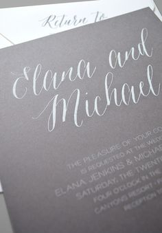 Kleinfeld Paper || Sonoma Wedding Invitation. Customize yours with Paper Passionista.