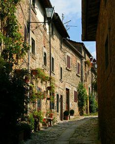 Cortona, Italy, medieval street