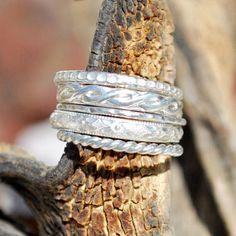 Silver Stacking Rings Silver Stacking Ring Set by EarthsBountyGems