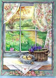 Window Ledge By Leesa Whitten