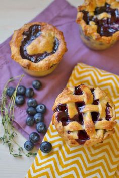 Blueberry Thyme Pie in a Jar