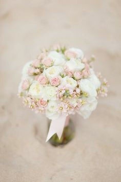 sweet pink and white wedding bouquet