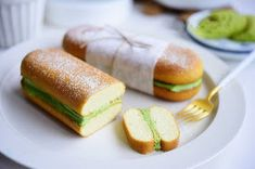 Hot Dog Buns, Hot Dogs, Matcha Cake, Gelatin, Puddings, Baking Recipes, Sushi, Food And Drink, Bread