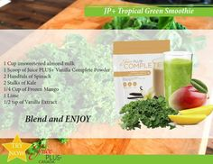 Juice Plus Tropical Green Smiothie www.GottaGetHealthy.com