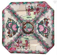 Vintage Rose Medallion Chinese Plate