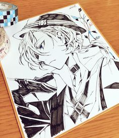 Imágenes y Doujinshi parte 2 Soukoku (Dazai x Chuuya)😍💖 Manga Drawing, Manga Art, Manga Anime, Anime Art, Stray Dogs Anime, Bongou Stray Dogs, Chuuya Nakahara, Anime Sketch, Boy Art