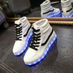baf74550da402b Fashion couple luminous LED charging light sneaker from Asian Cute  Kawaii  Clothing