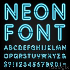 neon font generator -Shutterstock | Fonts and clipart | Pinterest ...