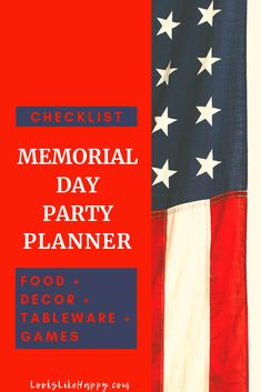 Memorial Day Party Planner for Food, Decor, Tableware & Games  #memorialday #bbq