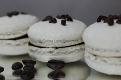 Cocoa Nibs #Macarons with Dark Chocolate Espresso Ganache #macaronmonday https://www.facebook.com/pages/Cocoa-Lane-Sweeterie/547227388699995