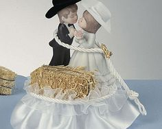 Buy Now! - Western Hay Bale Wedding Cake Topper