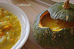Zuppa vegetariana di zucca patate e porri  #ricetta di @luisellablog Palak Paneer, Orzo, Ethnic Recipes, Food, Meals, Yemek, Eten