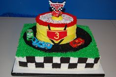 Disney Cars Racetrack Cake