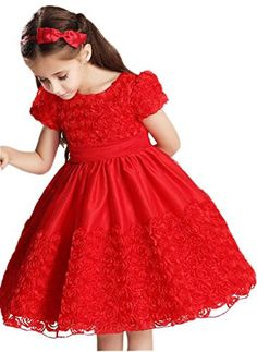 EOZY Vestido Rosa Para Niñas Princesa Fiesta Manga Corta (#1Rojo, Talla 120/Busto 60 cm) EOZY http://www.amazon.es/dp/B00UKVEOI8/ref=cm_sw_r_pi_dp_A89Ywb1YXH18P