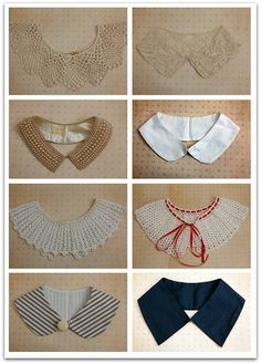 detachable collars for vintage dresses or blouses