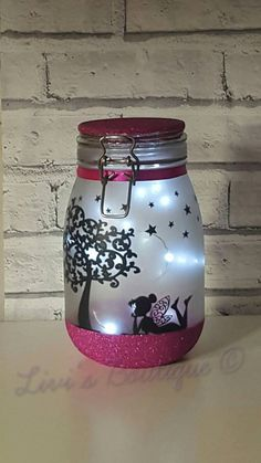 Fairy night light fairy lights Fairy Lantern Fairy Jar Light Jars Fairy Garden Flower Girls Gift Wedding decor Bedroom Light home decor Lantern With Fairy Lights, Fairy Lanterns, Led Fairy Lights, Jar Lights, String Lights, Pot Mason Diy, Mason Jars, Garden Lighting Projects, Flower Girl Gifts