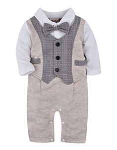 festliche kleidung baby junge stramplerhose smoking anzug. Black Bedroom Furniture Sets. Home Design Ideas