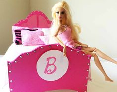 How to make a Barbie Doll Bed Tutorial - BARBIE