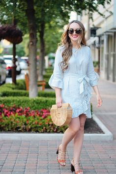 The Perfect Little Striped Dress Under $40, Who What Wear, striped dress, affordable style, summer outfit inspiration, Rachel Puccetti, Between Two Coasts