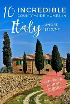 Where to rent a home in the Italian countryside for under $150 per night! (+free Airbnb credit) // Family Trip | Unique Europe Vacations | Budget Travel with Kids | Italy Agriturismo: