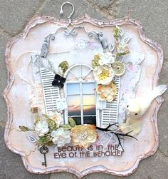 Beauty is in the eye of the beholder **Dusty Attic** - Scrapbook.com Maja Design, the Vintage Summer collection