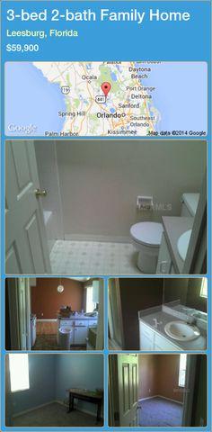 3-bed 2-bath Family Home in Leesburg, Florida ►$59,900 #PropertyForSaleFlorida http://florida-magic.com/properties/46100-family-home-for-sale-in-leesburg-florida-with-3-bedroom-2-bathroom