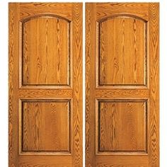 AAW Inc. 118-2 Unique Entry Doors Double Door, Mahogany, Traditional with an Arched 2-Panel Design $2810