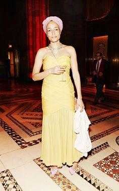 Zadie Smith Vintage dress, J Crew Shoes The Paris Review Spring Revel, New York City April 8, 2014
