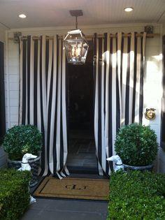 cabana drapes :: b/w stripe smitten