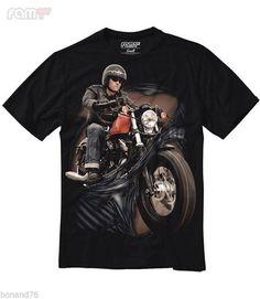 3D Print T-Shirt Regular Fit Bikers Big Motorcycle (Size XL - Asian) #FamilyFirst #BasicTee