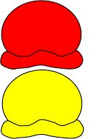 red & yellow ice cream scoops for colour matching exercise Preschool Colors, Preschool Math, Kindergarten Activities, Book Activities, Mig E Meg, Diy Busy Books, Learn Arabic Online, Country School, Classroom Birthday