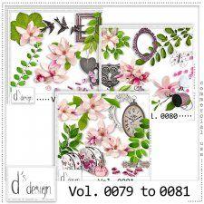 Vol. 0079 to 0081 - Floral Mix  by Doudou's Design  #CUdigitals cudigitals.com cu commercial digital scrap #digiscrap scrapbook graphics