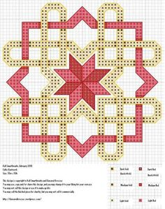 Celtic Knotwork - free cross stitch pattern.  This great blog offers free patterns as well as patterns to purchase.