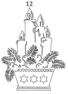 Christmas stencils to cut out of paper on the windows: 24 thousand images found in Yandeks. Noel Christmas, Christmas Candles, Christmas Paper, Christmas Colors, Christmas Projects, Kirigami, Christmas Stencils, Christmas Templates, Paper Cutting