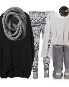 winter time cuteness cozy outfit