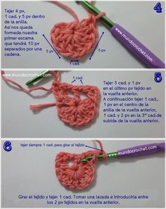 Como tejer el punto cocodrilo o escama a crochet o ganchillo paso a paso