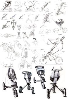 Stroller Concept Sketches by Andrew Skurdal at Coroflot.com.