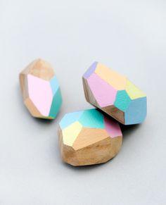 Easy DIY Geometric Wooden Beads
