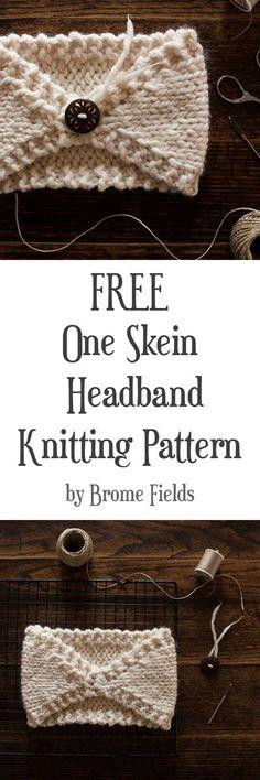 FREE Beginner Headband Knitting Pattern : Perfectly Imperfect : Brome Fields – Knitting patterns, knitting designs, knitting for beginners. Easy Knitting, Knitting For Beginners, Loom Knitting, Knitting Patterns Free, Crochet Patterns, Hat Patterns, Start Knitting, Knitted Headband Free Pattern, Headband Crafts