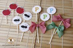 Convite e kit festa infantil tema picnic | Abelha Design - Convites de casamento