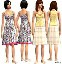 Mod The Sims - Spring Dresses for Teens