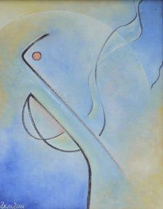 Hommage a Kandinsky.  Oil on canvas, 50x40 cm.