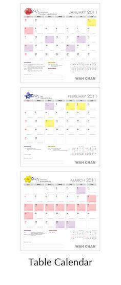Table Calendar 2011