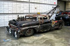 hot rod, muscle cars, rat rods and girls: Photo Rat Rod Trucks, Rat Rods, Rat Rod Cars, Farm Trucks, Tow Truck, Cool Trucks, Big Trucks, Chevy Trucks, Pickup Trucks