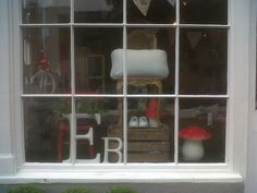 Shop window, Bluedog and Sought boutique, nestled in the heart of beautiful Woodstock in Oxfordshire.