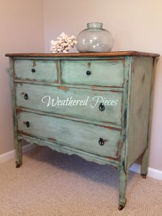 Weathered Pieces: Alaskan Tundra Green (from Miss Mustard Seed)